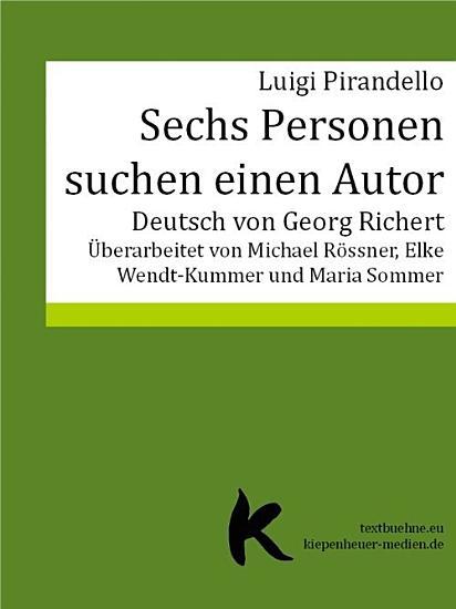 SECHS PERSONEN SUCHEN EINEN AUTOR PDF