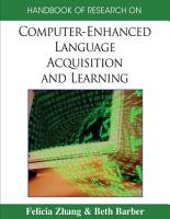 Handbook of Research on Computer Enhanced Language Acquisition and Learning PDF