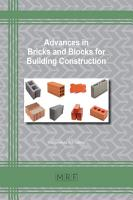 Advances in Bricks and Blocks for Building Construction PDF