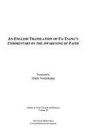 An English Translation of Fa-Tsang's Commentary on the Awakening of Faith