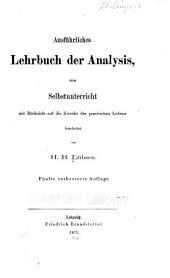 Ausführliches Lehrbuch der Analysis
