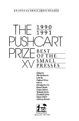 The Pushcart Prize XV PDF