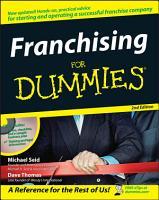 Franchising For Dummies PDF
