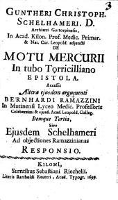 De motu Mercurii in tuba Toricilliano epistola