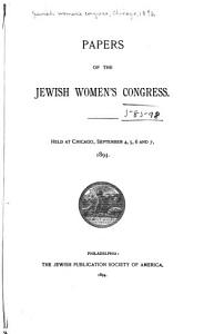 Papers of the Jewish Women s Congress PDF