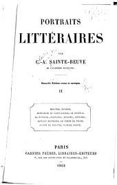 Portraits littéraires: Volume2