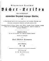 Allgemeines B  cher Lexikon  Bd  1857 61  Bearb  u  hrsg  von K  R  Heumann  1863 64  2 pt  in 1 v PDF