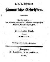 Sämmtliche Schriften: Vollständige, vom Verfasser selbst besorgte, verb. und verm. Original-Ausg. letzter Hand, Bände 13-14