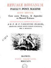 Rituale romanum: Pauli V. ... jussu editum
