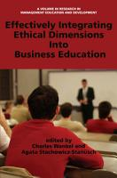 Effectively Integrating Ethical Dimensions into Business Education PDF