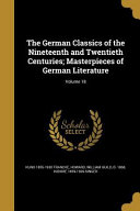 GERMAN CLASSICS OF THE 19TH &