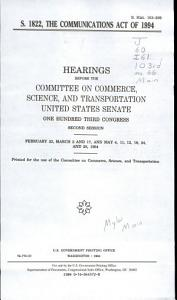 S  1822  the Communications Act of 1994 PDF