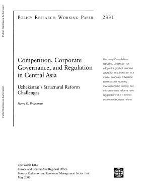 Competition  Corporate Governance  and Regulation in Central Asia PDF