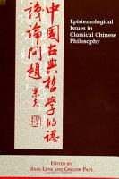 Epistemological Issues in Classical Chinese Philosophy PDF