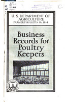 Business Records for Poultry Keepers PDF