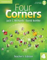 Four Corners Level 4 Teacher s Edition with Assessment Audio CD CD ROM PDF