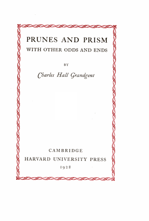 Prunes and Prism