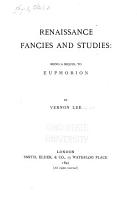 Renaissance Fancies and Studies PDF