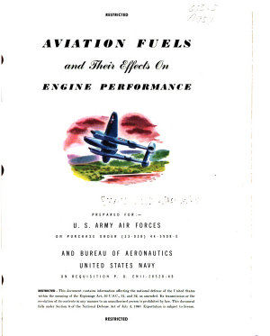 Aviation Fuels and Their Effects on Engine Performance