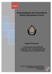 KEPEMIMPINAN & KOMUNIKASI DALAM MANAJEMEN PROYEK