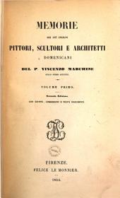 Memorie dei più insigni pittori, scultori e architetti Domenicani: Volume 1