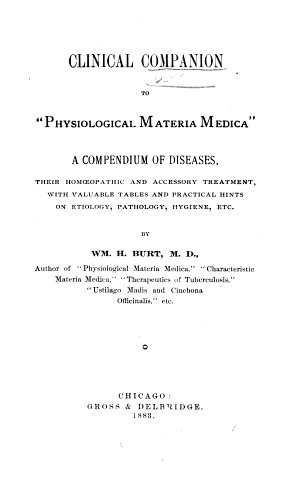 Clinical Companion to  Physiological Materia Medica