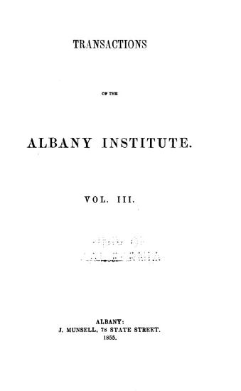 Transactions of the Albany Institute PDF