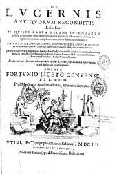 De Lucernis antiquorum reconditis