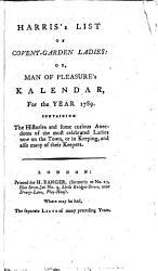 Harris s List of Covent Garden Ladies PDF