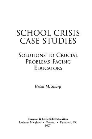 School Crisis Case Studies PDF