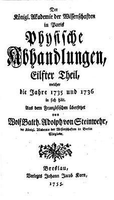 Der k  nigl  Akademie der Wissenschaften in Paris physische Abhandlungen  1692 1741  Aus dem Franz  sischen   bersetzt von W  B  A  von Steinwehr PDF