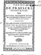 Theses de praescriptionum iure