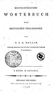 Encyclopädisches Wörterbuch der kritischen Philosophie: Band 1