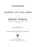 Catalogue of Sanskrit and Pali Books in the British Museum