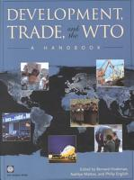 Development  Trade  and the WTO PDF