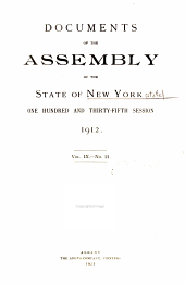Documents of the Assembly of the State of New York: Volume 9