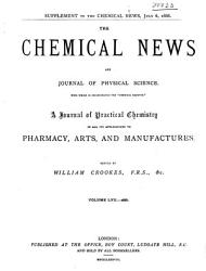 The Chemical News and Journal of Industrial Science PDF
