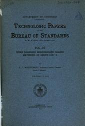 Technologic Papers of the Bureau of Standards: Issues 31-43