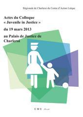 """Actes du colloque """"Juvenile in Justice"""" du 19 mars 2013 au Palais de Justice de Charleroi"""