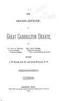 The Graves Ditzler  Or  Great Carrollton Debate PDF