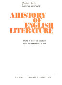 A History of English Literature: From the beginnings to 1700. 2d ed