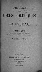 Origine des idées politiques de Rousseau
