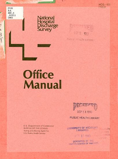National Hospital Discharge Survey Office Manual PDF