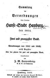 Sammlung der verordnungen der Freyen Hanse-stadt Hamburg seit deren wiederbefreyung: Volume 22