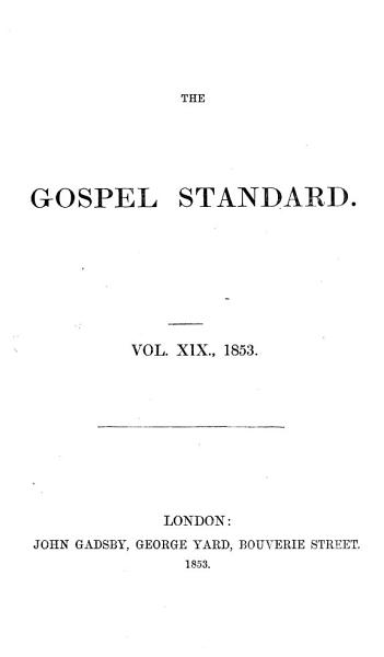 Download The Gospel standard  or Feeble Christian s support Book