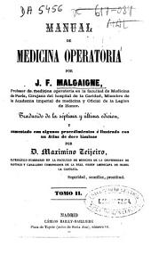 Manual de medicina operatoria: Volumen 2