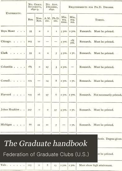 The Graduate Handbook PDF