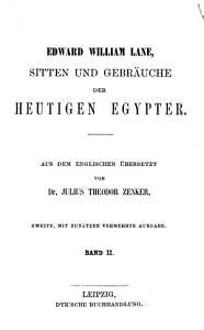 Sitten und Gebr  uche der heutigen Egypter PDF