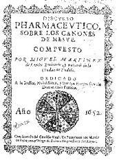 Discurso pharmaceutico, sobre los cánones de Mesue