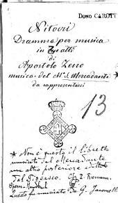 Nitocri drama[!! per musica da rappresentarsi nel Regio Teatro di Torino, nel Carnovale del 1752 alla presenza di S.S.R.M